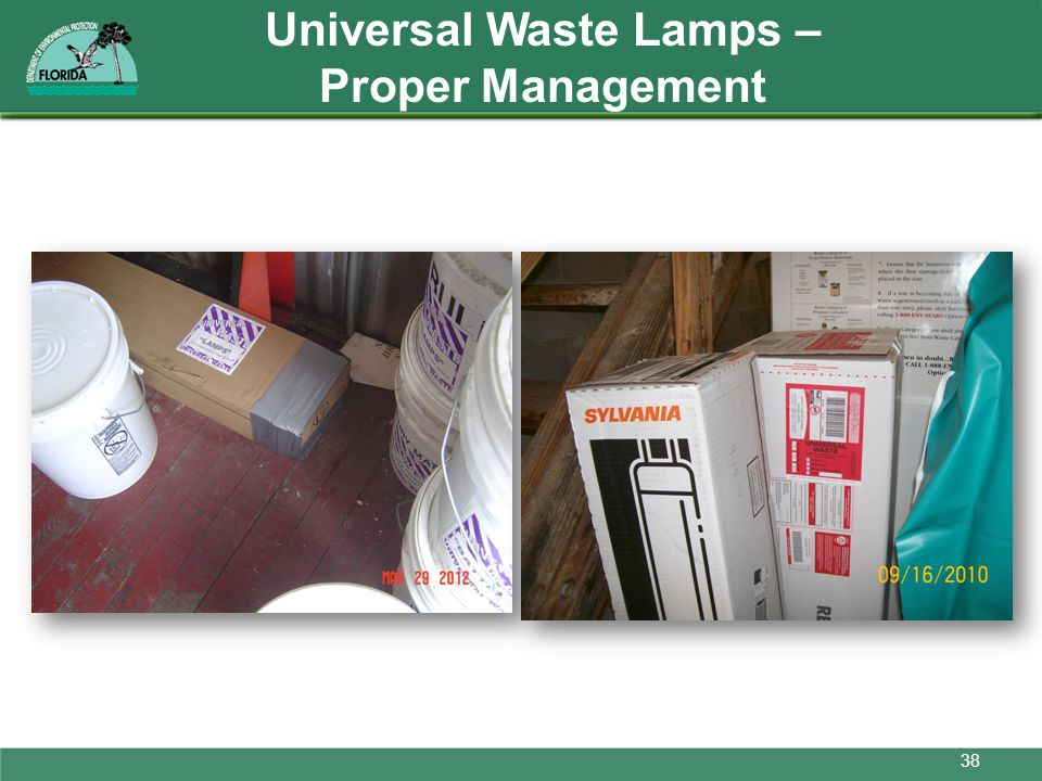 Universal Waste Lamps – Proper Management