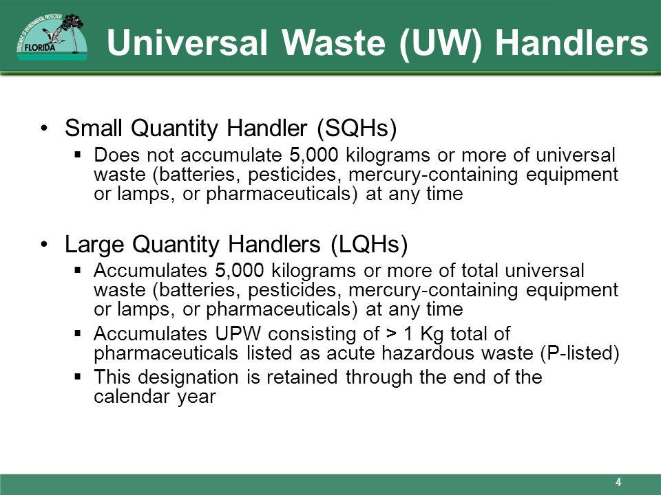 Universal Waste (UW) Handlers