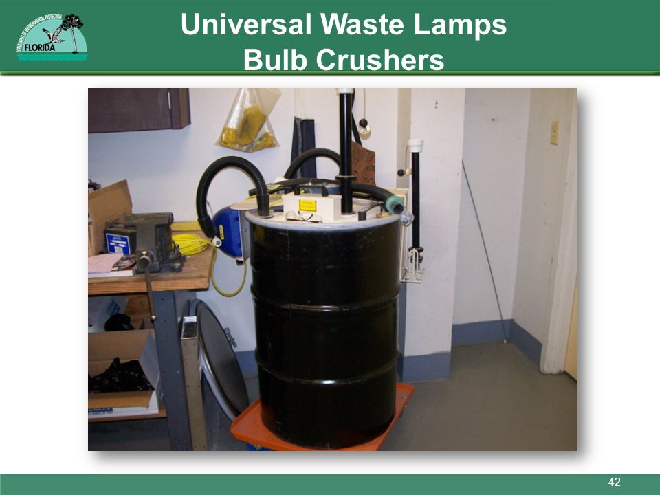 Universal Waste Lamps Bulb Crushers