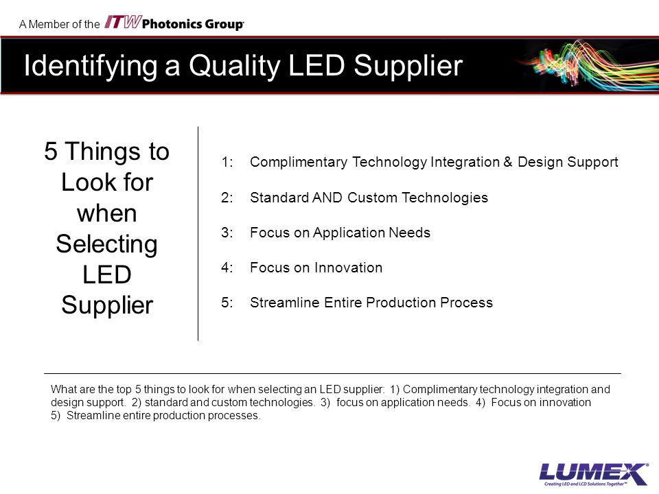 5 Things to Look for when Selecting LED Supplier