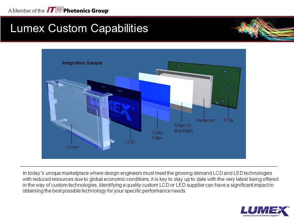 Lumex Custom Capabilities