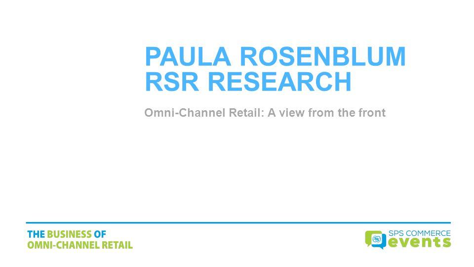 PAULA ROSENBLUM RSR RESEARCH