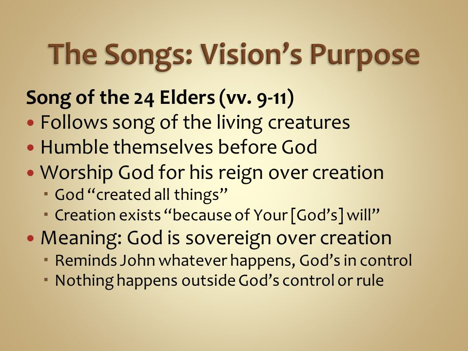 The Songs: Vision's Purpose