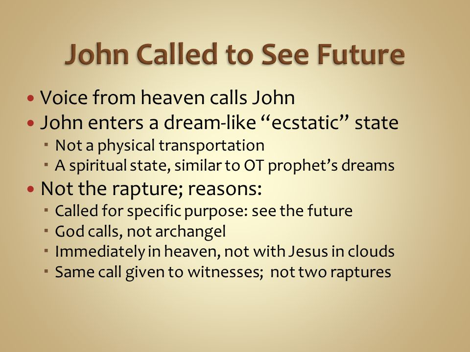 John Called to See Future