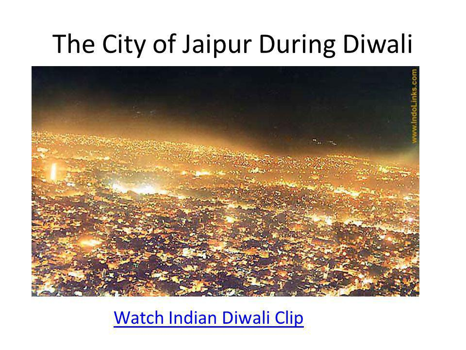 The City of Jaipur During Diwali