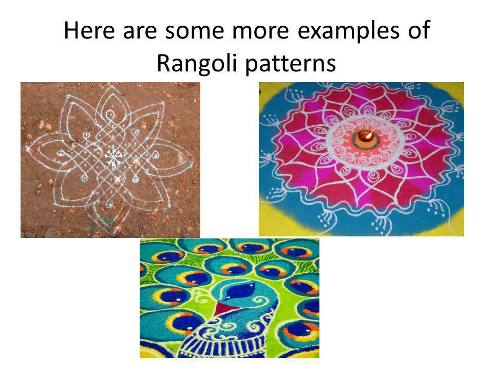 Here are some more examples of Rangoli patterns