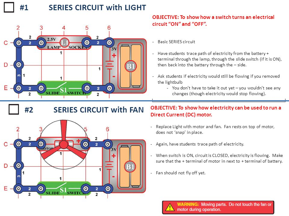 #1 SERIES CIRCUIT with LIGHT