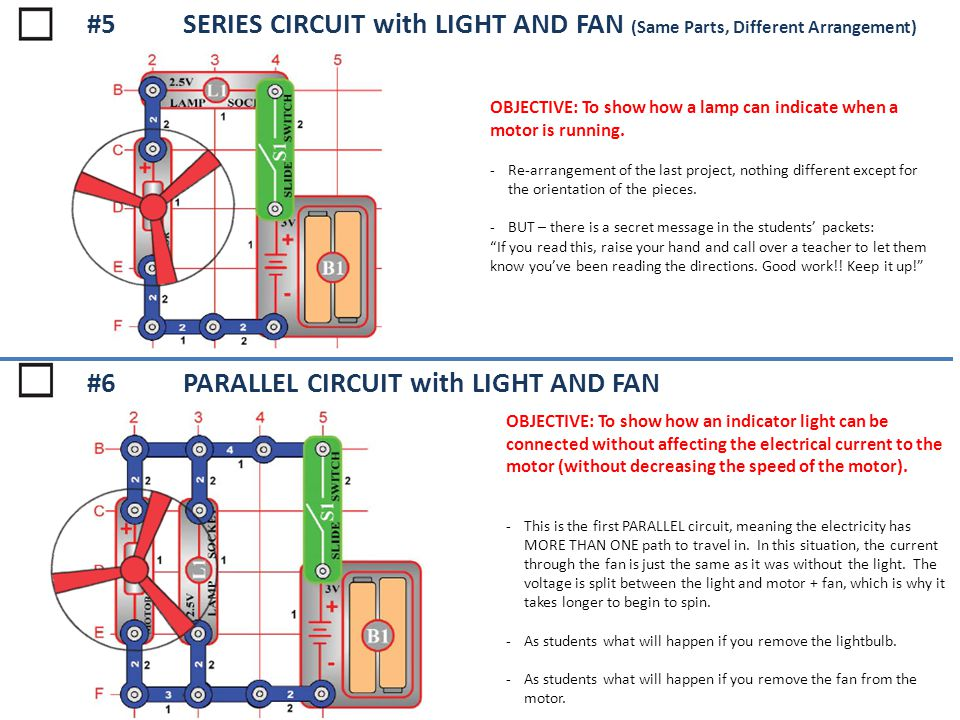 #6 PARALLEL CIRCUIT with LIGHT AND FAN