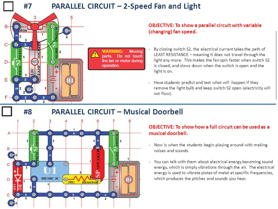 #7 PARALLEL CIRCUIT – 2-Speed Fan and Light