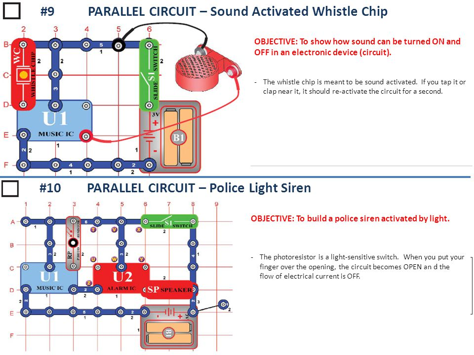 #9 PARALLEL CIRCUIT – Sound Activated Whistle Chip