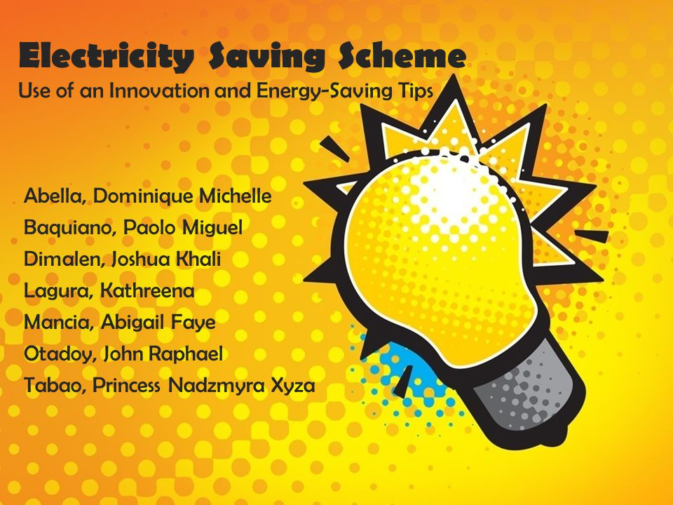 Electricity Saving Scheme Use of an Innovation and Energy-Saving Tips