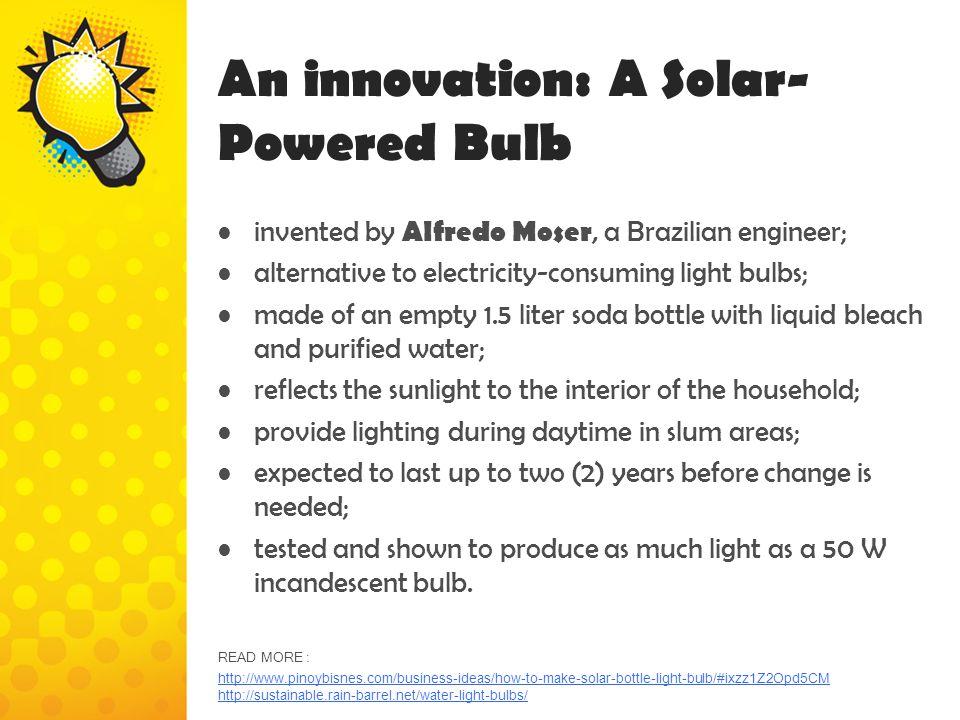 An innovation: A Solar-Powered Bulb