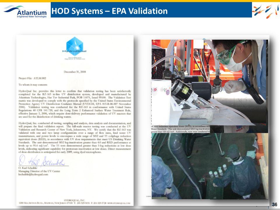 HOD Systems – EPA Validation