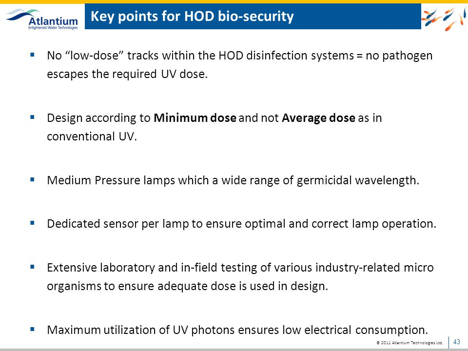 Key points for HOD bio-security
