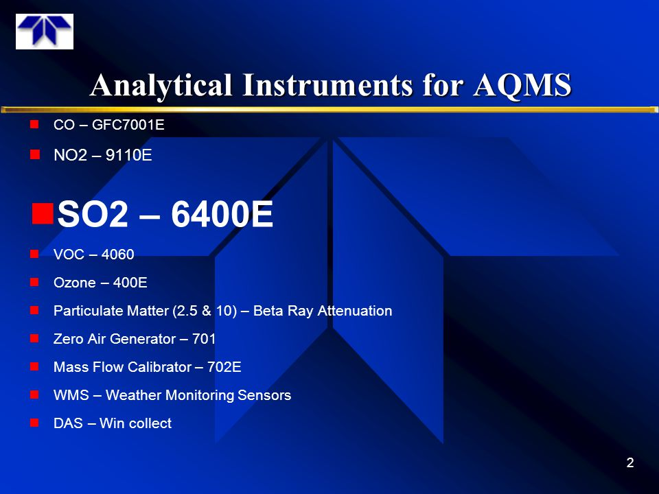 Analytical Instruments for AQMS