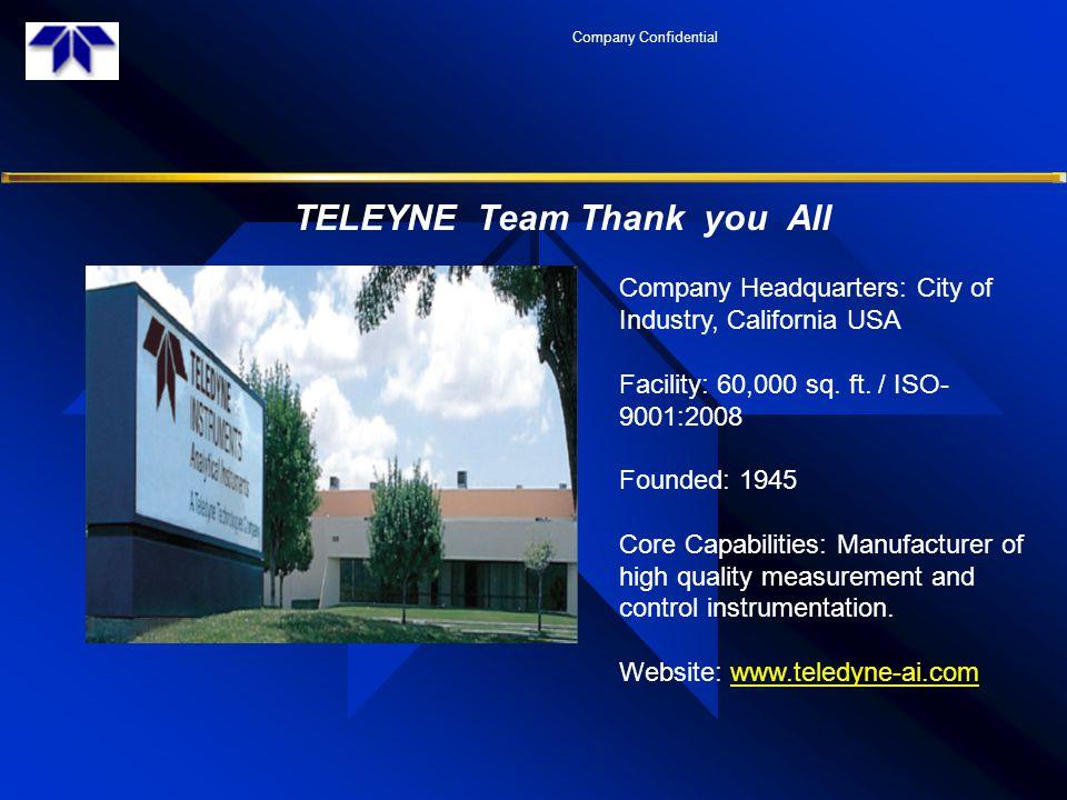TELEYNE Team Thank you All