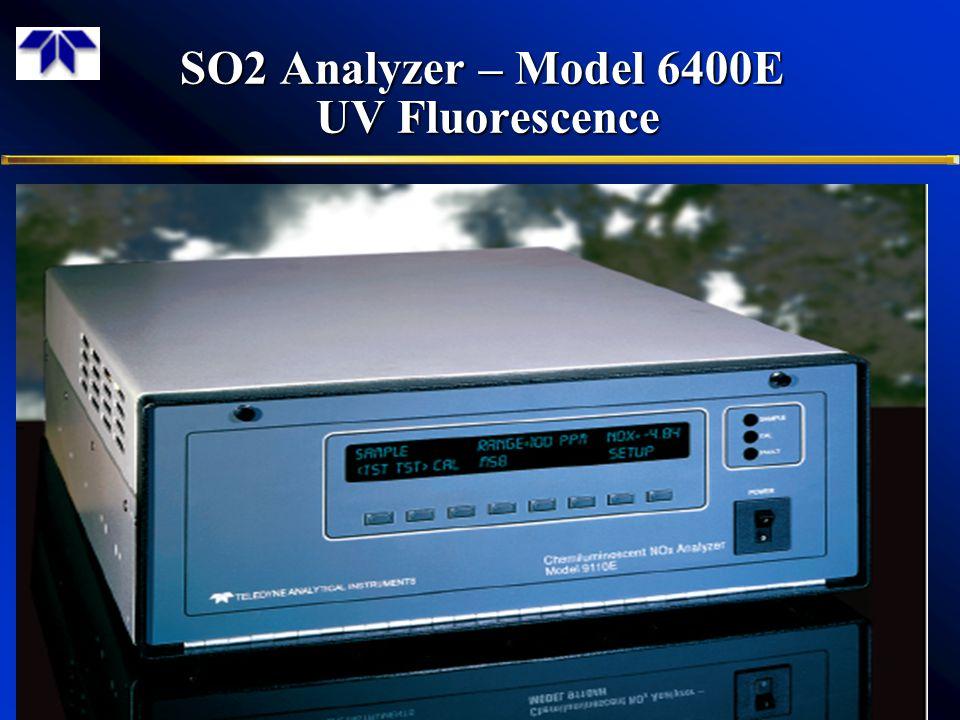 SO2 Analyzer – Model 6400E UV Fluorescence