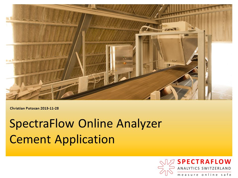 SpectraFlow Online Analyzer Cement Application