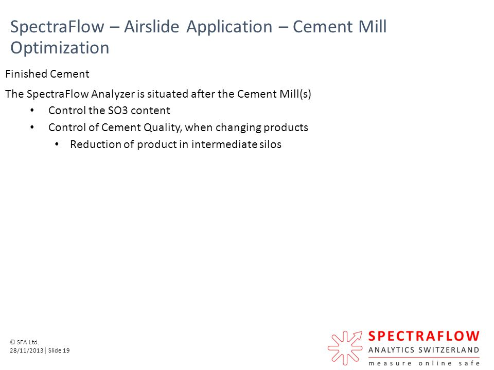 SpectraFlow – Airslide Application – Cement Mill Optimization