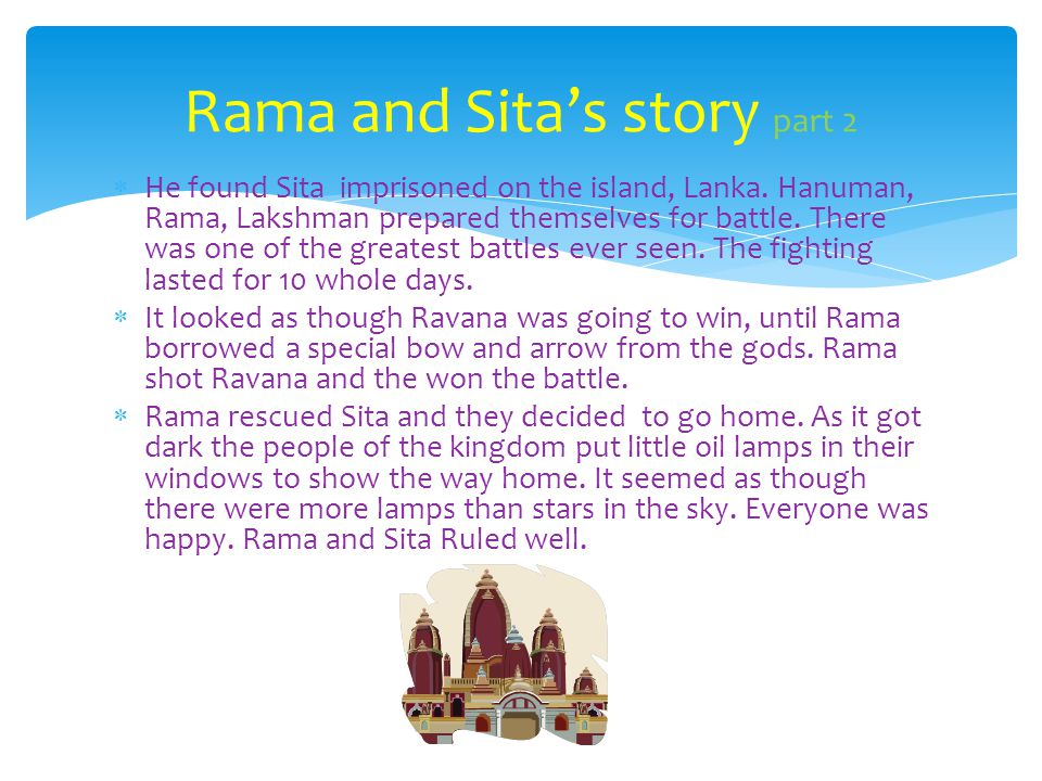 Rama and Sita's story part 2