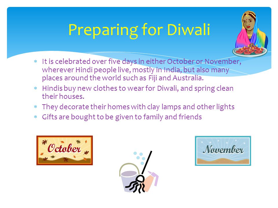Preparing for Diwali