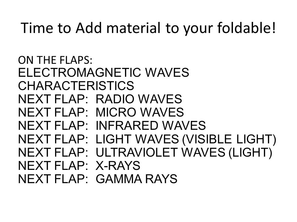 Time to Add material to your foldable!