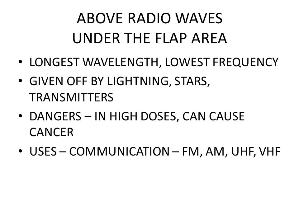 ABOVE RADIO WAVES UNDER THE FLAP AREA