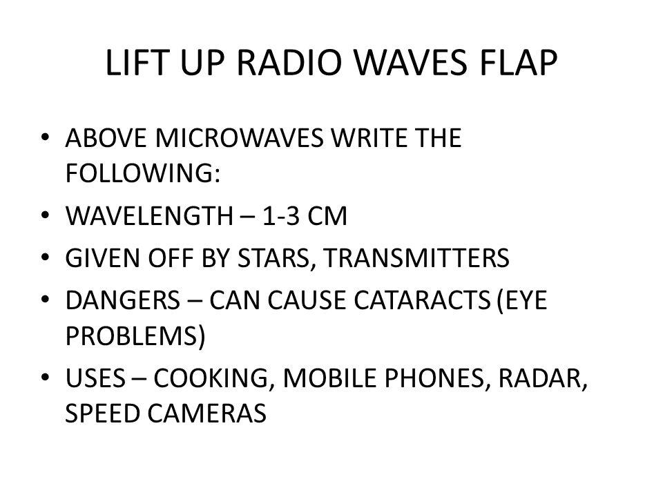 LIFT UP RADIO WAVES FLAP