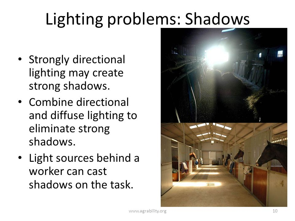 Lighting problems: Shadows