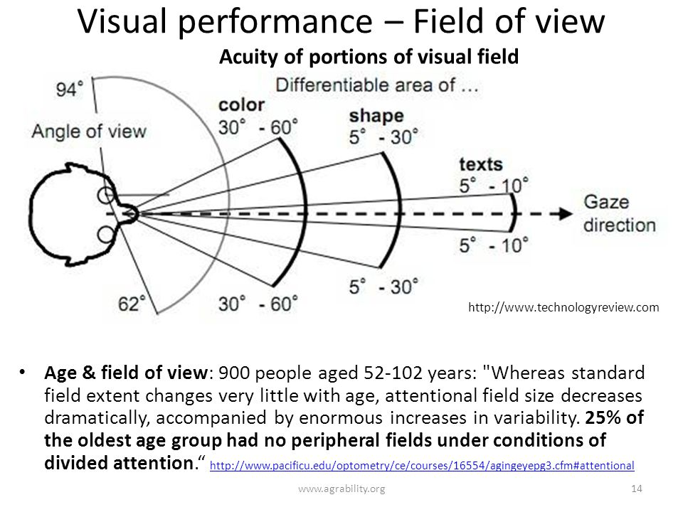 Visual performance – Field of view