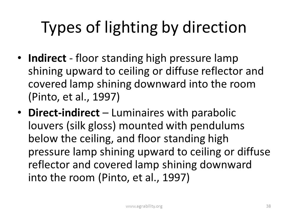 Types of lighting by direction