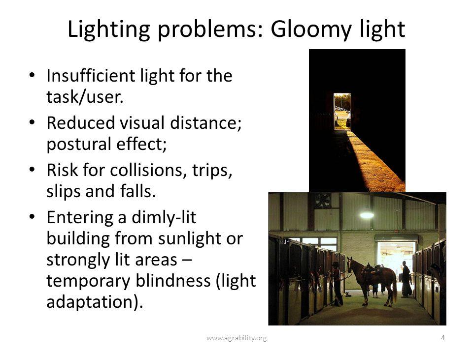Lighting problems: Gloomy light