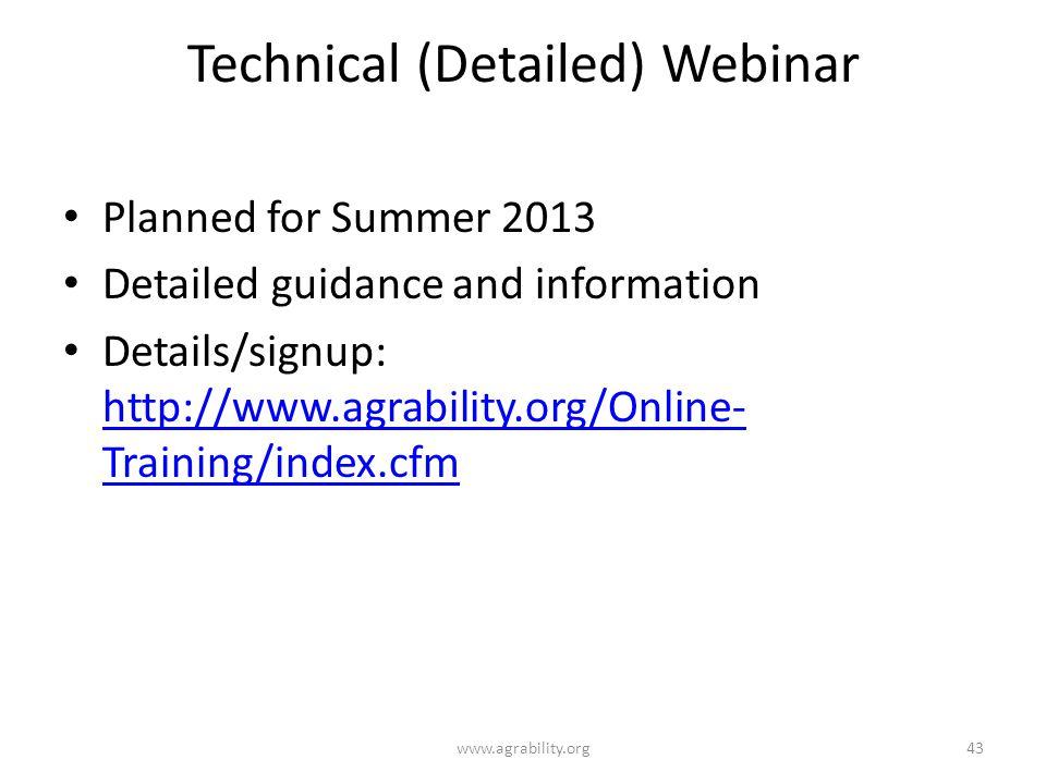 Technical (Detailed) Webinar