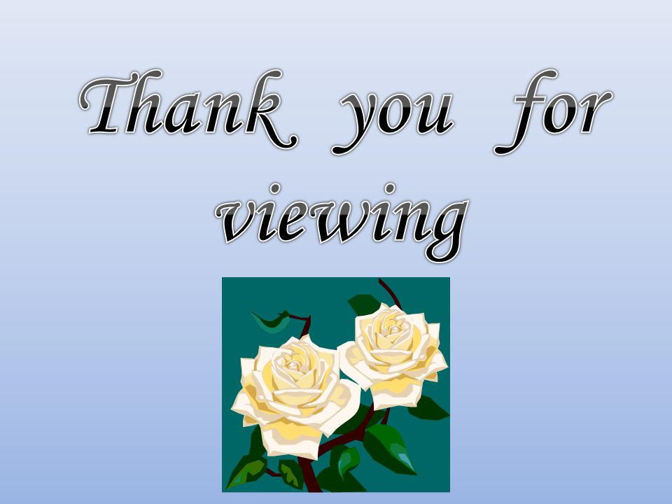 Thank you for viewing