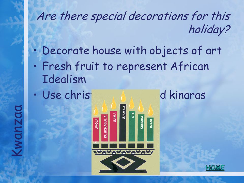 Are there special decorations for this holiday