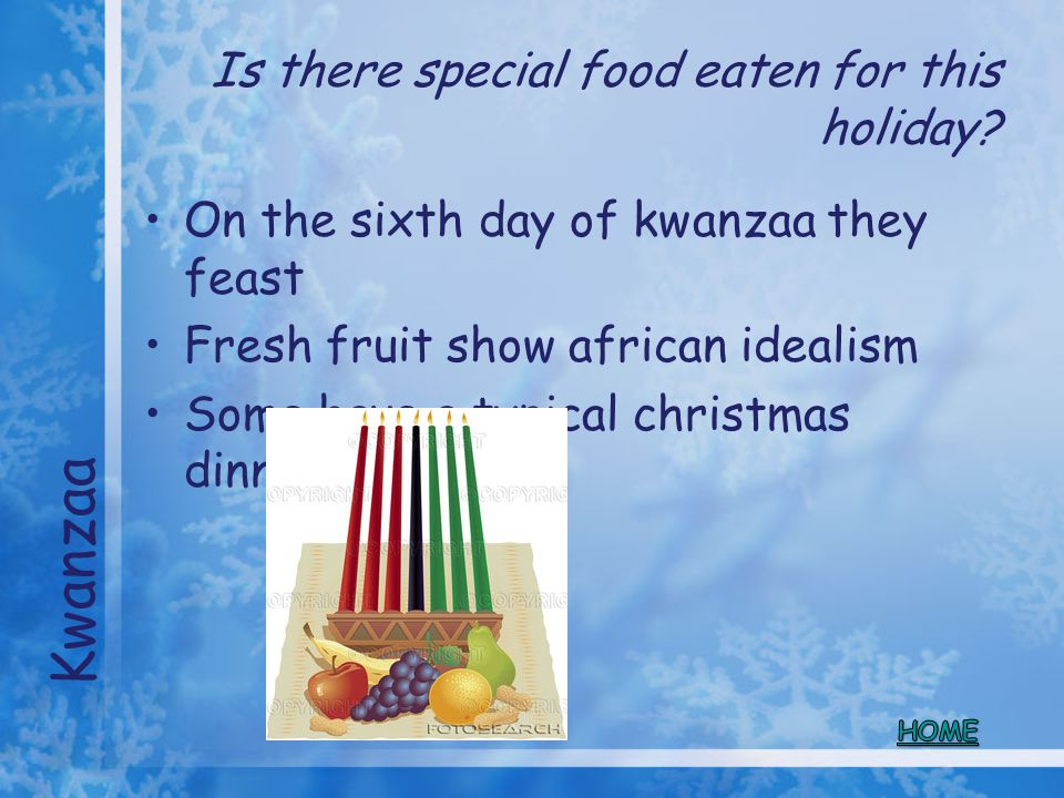 Is there special food eaten for this holiday