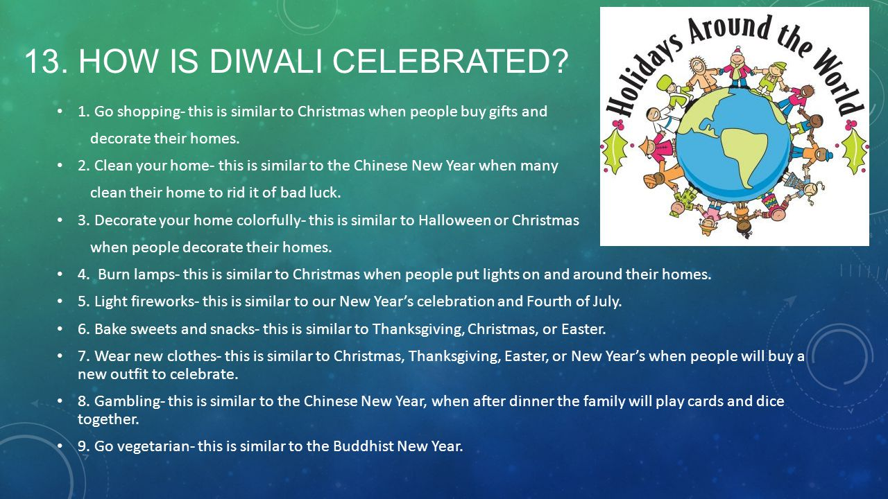 13. How is Diwali Celebrated