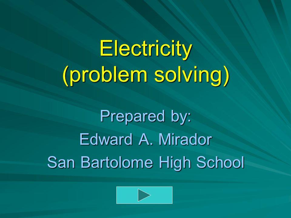 Electricity (problem solving)