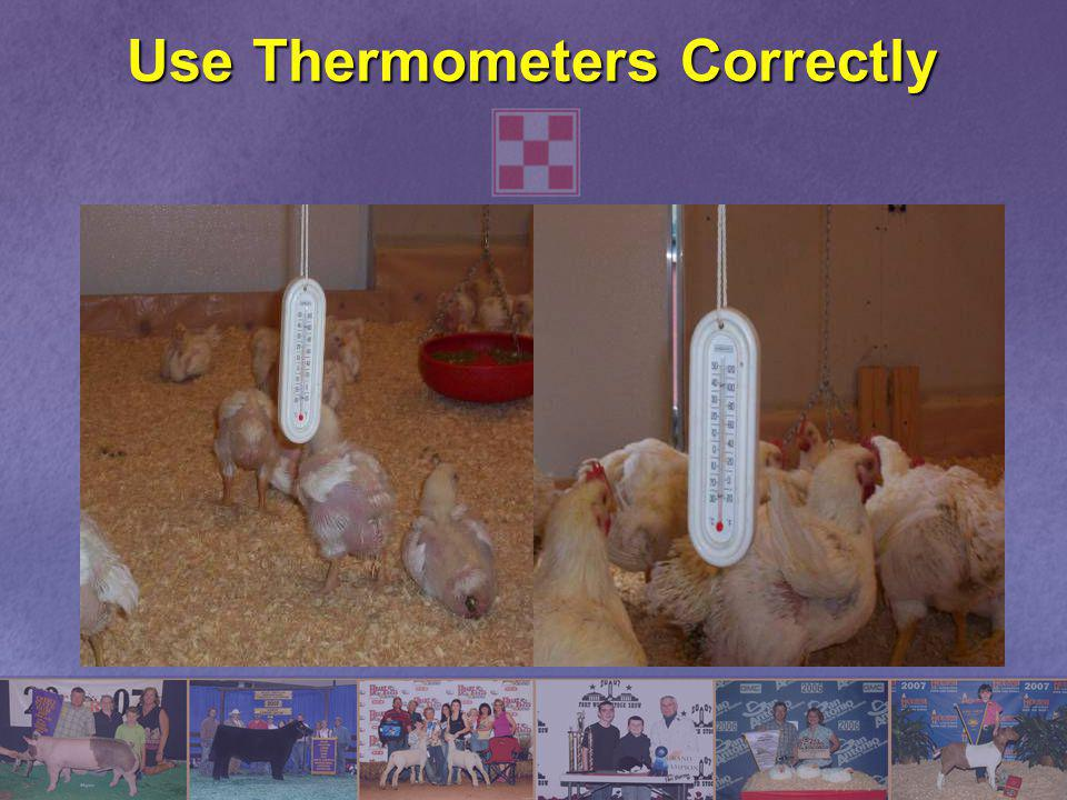 Use Thermometers Correctly