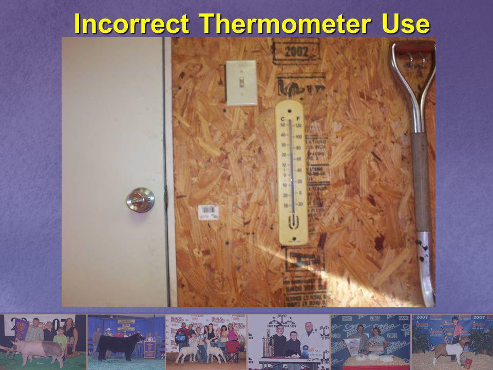 Incorrect Thermometer Use
