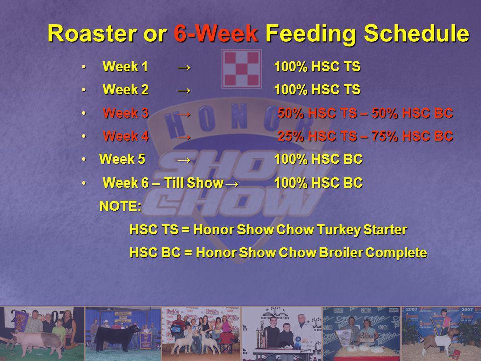 Roaster or 6-Week Feeding Schedule