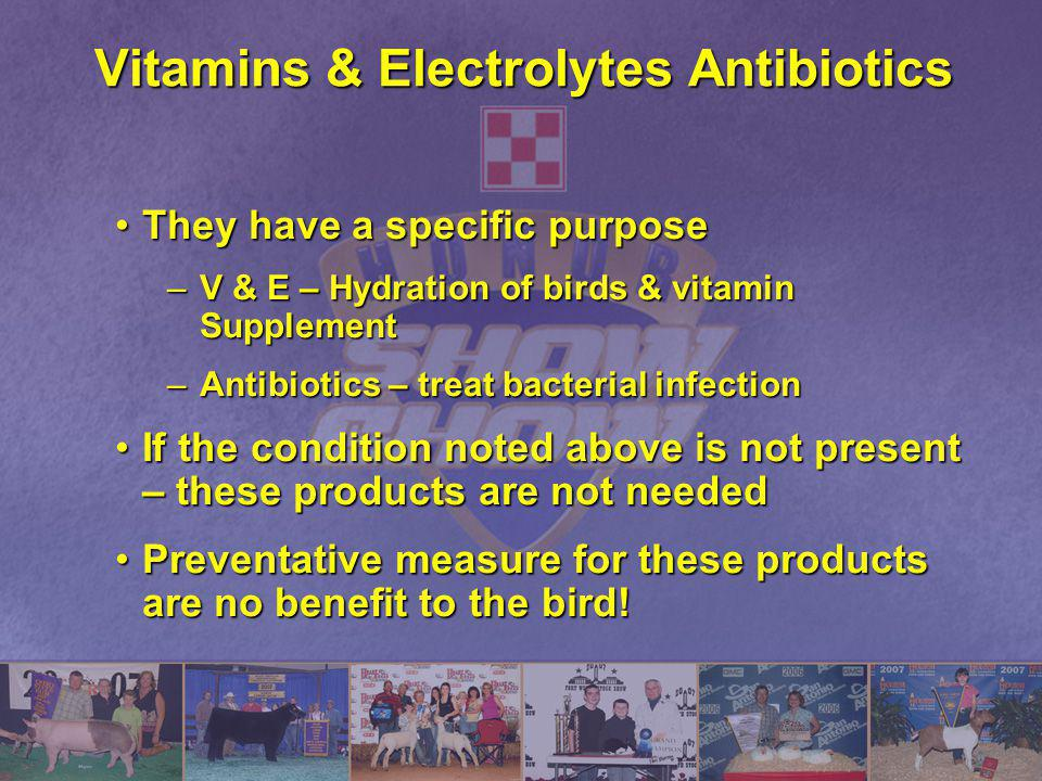 Vitamins & Electrolytes Antibiotics