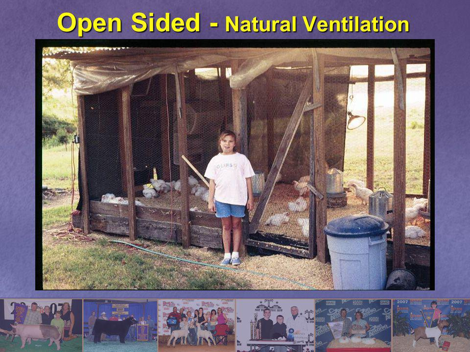 Open Sided - Natural Ventilation