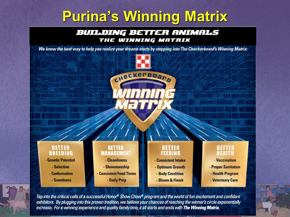 Purina's Winning Matrix