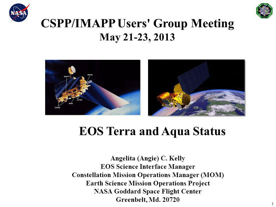 CSPP/IMAPP Users Group Meeting May 21-23, 2013