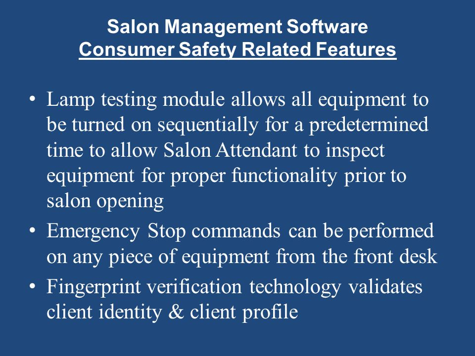 Salon Management Software Consumer Safety Related Features