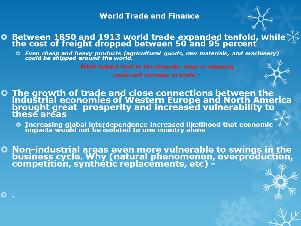 World Trade and Finance