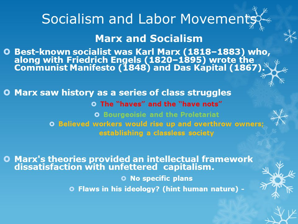 Socialism and Labor Movements
