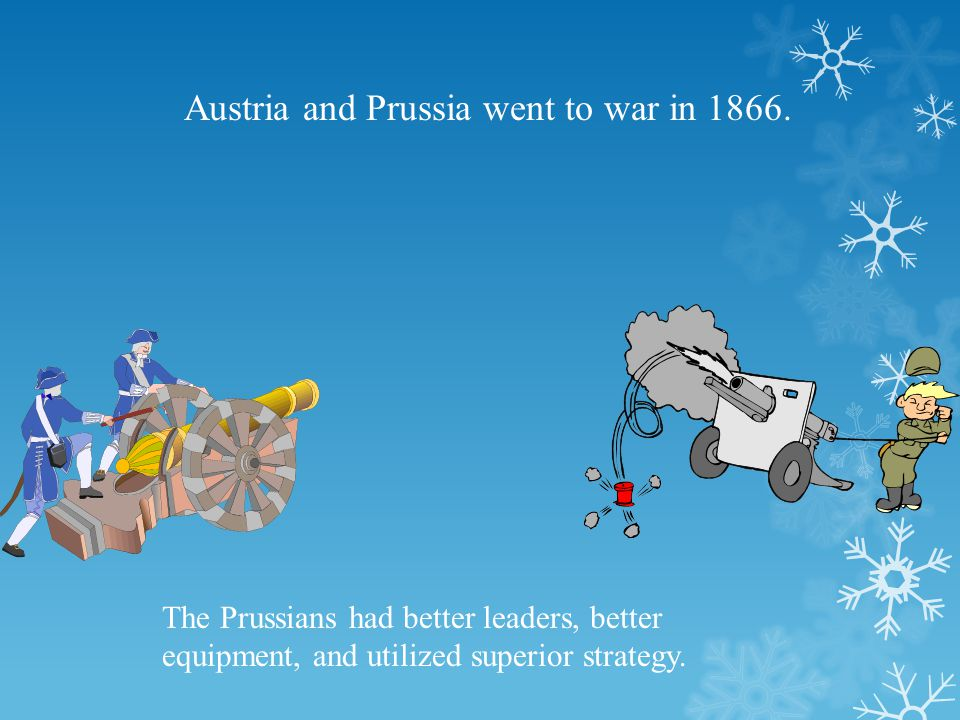 Austria and Prussia went to war in 1866.