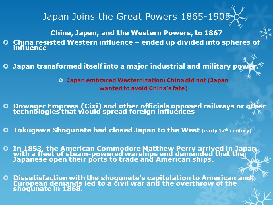 Japan Joins the Great Powers